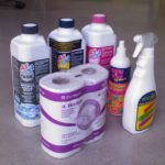 Cleaning products and toilet tissue
