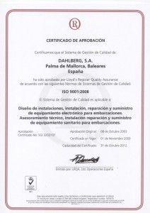 certificado iso9001 2009 esp