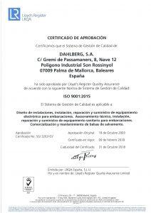 CERTIFICADO ISO 9001 2015 ESP